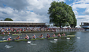 Henley. Great Britain. Final of the Remenham Challenge Cup, Leander and University of London [GBR W8+]  175th  Henley Royal Regatta, Henley Reach. England. 14:50:01  Sunday  06/07/2014. [Mandatory Credit; Peter Spurrier/Intersport-images]