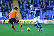 Birmingham City's David Cotterill during the Sky Bet Championship match between Birmingham City and Wolverhampton Wanderers at St Andrews, Birmingham, England on 31 October 2015. Photo by Shane Healey.