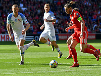 Football - 2018 / 2019 Euro Championship 2020 qualifying round. Wales v SLOVAKIA <br /> <br /> <br /> Gareth Bale of Wales on the attack at Cardiff City Stadium<br /> <br /> COLORSPORT/WINSTON BYNORTH