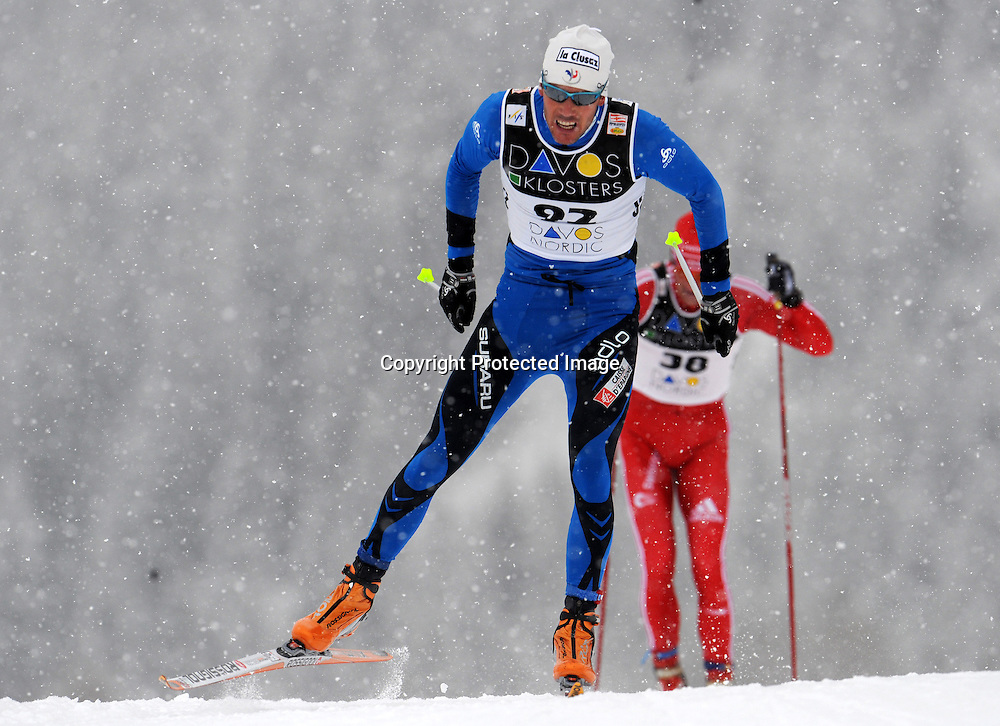 CROSS COUNTRY WORLD CUP 2009-2010 - 15 Km Free Individual - Davos, Svizzera, 12 dicembre 2009.<br /> Vincent Vittoz (FRA) quinto