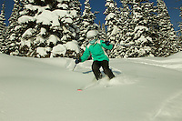 Jessica Laman (age 9) skiing at Jackson Hole, Wyoming