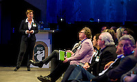 UTRECHT - Marielle van der Zwan , A tribe called Golf, de kracht van de connectie. Nationaal Golf Congres van de NVG 2014 , Nederlandse Vereniging Golfbranche. COPYRIGHT KOEN SUYK