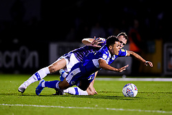 Tyler Smith of Bristol Rovers is fouled by George Ray of Tranmere Rovers - Mandatory by-line: Ryan Hiscott/JMP - 20/08/2019 - FOOTBALL - Memorial Stadium - Bristol, England - Bristol Rovers v Tranmere Rovers - Sky Bet League One
