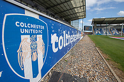 A general view of The JobServe Community Stadium - Mandatory by-line: Phil Chaplin/JMP - 07/09/2019 - FOOTBALL - JobServe Community Stadium - Colchester, England - Colchester United v Walsall - Sky Bet League Two