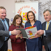 Mark Kennedy Governor, Limerick Prison, Mayor of Ennis Clare Colleran Molloy, Leanne Purcell Bedford Row and Judge Patrick Durcan at the Launch of Bedford Row on Wednesday afternoon