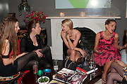 LAUREN MATIC; ANDREA TESE; JEMMA KIDD; TATIANA OF GREECE, Party hosted for Jason Wu by Plum Sykes and Christine Al-Bader. Ladbroke Grove. London. 22 March 2011. -DO NOT ARCHIVE-© Copyright Photograph by Dafydd Jones. 248 Clapham Rd. London SW9 0PZ. Tel 0207 820 0771. www.dafjones.com.