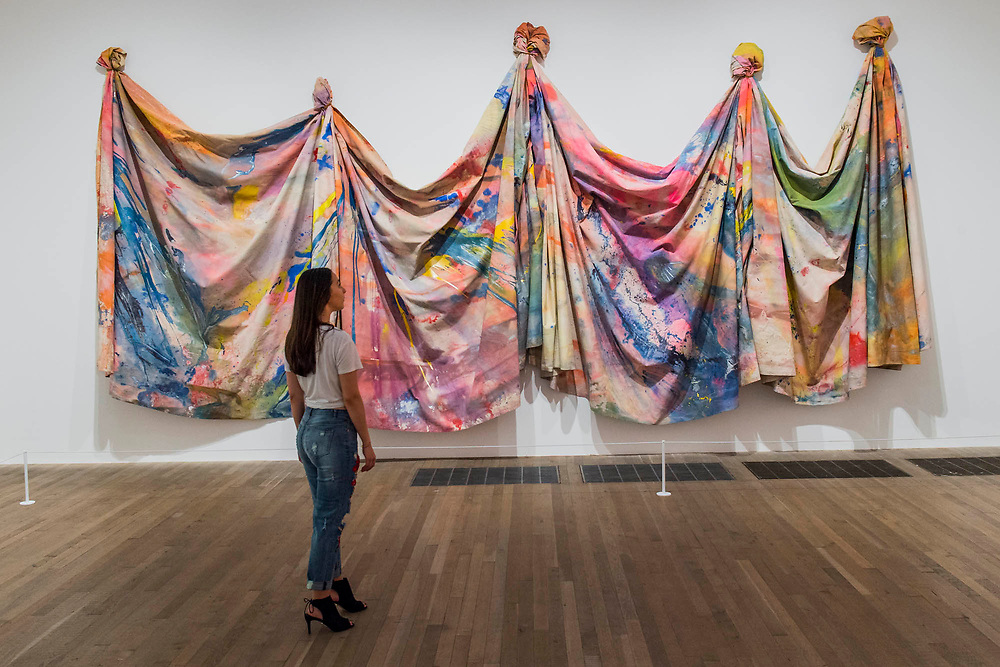 Carousel Change 1970 by Sam Gilliam - Soul of a Nation: Art in the Age of Black Power, Tate Modern's new exhibition exploring what it meant to be a Black artist during the Civil Rights movement.  The exhibition is at Tate Modern from 12 July – 22 October 2017.