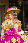 Woman in Carnival dress, Venice, Veneto, Italy