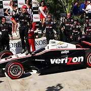 15 April 2012: IndyCar driver Will Power (12) celebrates his victory following the Toyota Grand Prix of Long Beach on the Streets of Long Beach in Long Beach, CA.
