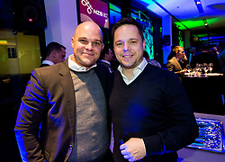 Marko Levovnik and Ermin Rakovic of SPINS during Traditional New Year party of of the Slovenian Football Association - NZS, on December 18, 2017 in Kongresni center, Brdo pri Kranju, Slovenia. Photo by Vid Ponikvar / Sportida