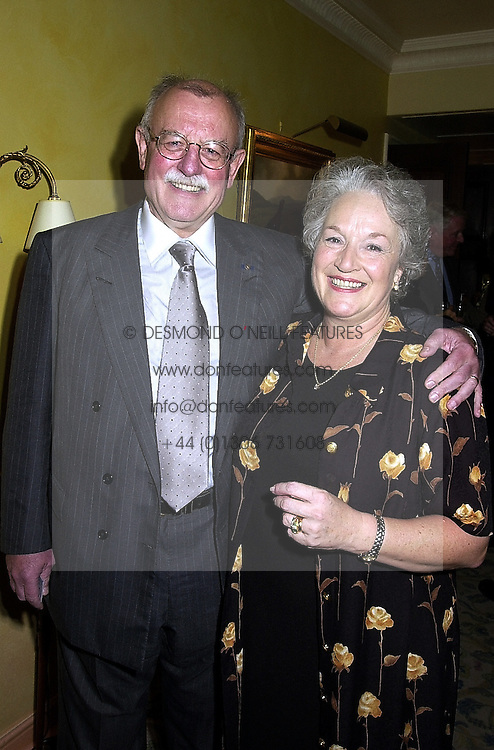 MR & MRS ROGER WHITAKER, he is the musician, at a party in London on 18th September 2000.OHA 27