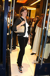 """ELIZABETH SALTZMAN at a party to celebrate the opening of the new Mont Blanc store at 151 Sloane Street, London on 9th March 2005.  The evening was held in conjunction with UNICEF's """"Sign up for the right to write"""" campaign which is raising money though the sale of celebraties 'statements' currently for auction on the ebay website.<br /><br />NON EXCLUSIVE - WORLD RIGHTS"""