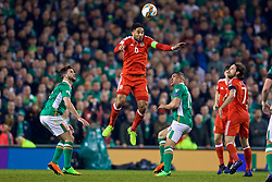 DUBLIN, REPUBLIC OF IRELAND - Friday, March 24, 2017: Wales' captain Ashley Williams in action against Republic of Ireland during the 2018 FIFA World Cup Qualifying Group D match at the Aviva Stadium. (Pic by David Rawcliffe/Propaganda)
