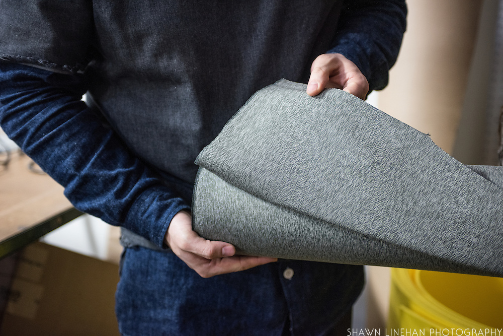 Tanner Goods created this Salt and Pepper fabric after an old Swiss backpack style. It's made out of stinging nettles and is water resistant.