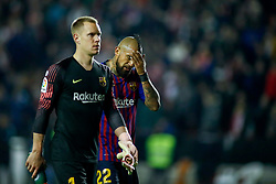 November 3, 2018 - Madrid, MADRID, SPAIN - Vidal of FC Barcelona during the Spanish Championship, La Liga, football match between Rayo Vallecano and FC Barcelona on November 03th, 2018 at Estadio de Vallecas in Madrid, Spain. (Credit Image: © AFP7 via ZUMA Wire)