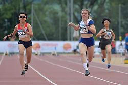 05/08/2017; Yoshikawa, Kotomi, T37, JPN, Carr, Amy, GBR, Seol, Hyunjeong, KOR at 2017 World Para Athletics Junior Championships, Nottwil, Switzerland