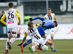 03.03.2018, TGW Arena, Pasching, AUT, 1. FBL, LASK Linz vs SK Puntigamer Sturm Graz, 25. Runde, im Bild v.l. Reinhold Ranftl (LASK Linz), Rajko Rep (LASK Linz), Peter Zulj (SK Puntigamer Sturm Graz) // during the Austrian Football Bundesliga 25th Round match between LASK Linz und SK Puntigamer Sturm Graz at the TGW Arena in Pasching, Austria on 2018/03/03. EXPA Pictures © 2018, PhotoCredit: EXPA/ Roland Hackl