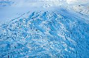 Aerial view of the Mount Blackburn Regal Mountain glacial complex, Wrangell-St. Elias National Park Alaska