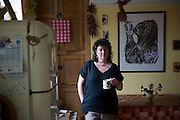 Poet laureate CAROL ANN DUFFY at home in Didsbury, Manchester
