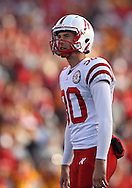 November 06 2010: Nebraska Cornhuskers kicker Alex Henery (90) eyes the goal posts before a kick during the second half of the NCAA football game between the Nebraska Cornhuskers and the Iowa State Cyclones at Jack Trice Stadium in Ames, Iowa on Saturday November 6, 2010. Nebraska defeated Iowa State 31-30.