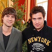 NLD/Amsterdam/20101208 - Skyradio Christmas Tree for Charity 2010, Nick & Simon, Nick Schilder en Simon Keizer