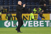 Burnley manager Sean Dyche applauding the fans after  the The FA Cup match between Burnley and Norwich City at Turf Moor, Burnley, England on 25 January 2020.