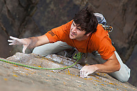 Adventure Photography, Michael Clark, Rock climbing at Otter Cliffs, Acadia National Park