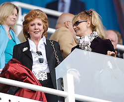 Reading, England - Saturday, April 7, 2007: Liverpool's fan Cilla Black, who is also the partner of Reading's Chairman John Madejski, takes her seat during the Premier League match at the Madejski Stadium. (Pic by David Rawcliffe/Propaganda)