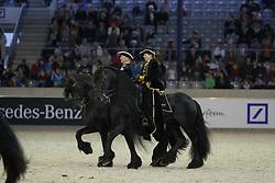 Reiten, Pferdesport, Schwarze Perlen, Schaubild, Friesen<br /> Aachen - Europameisterschaften 2015<br /> Zuchttag<br /> © www.sportfotos-lafrentz.de/Stefan Lafrentz