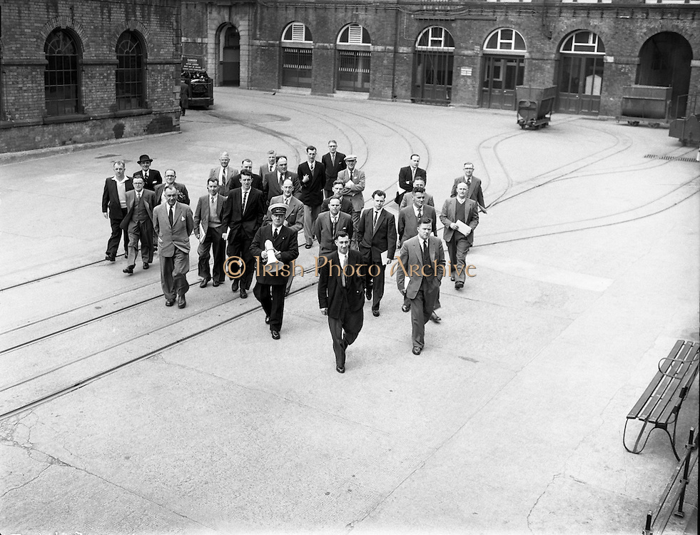 British Railways Crew and National Crew Board visit Guinness .17/05/1958 .
