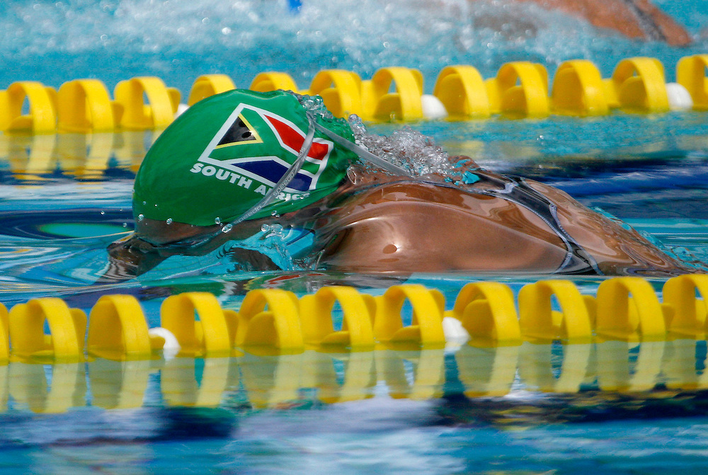 Belo Horizonte_MG, Brasil...Copa do Mundo de Natacao 2007. Na foto a nadadora Keri-Leigh Shaw, da Africa do Sul, vencedora da prova 200m Borboleta...Swimming World Cup 2007. In this photo the swimmer Keri-Leigh Shaw, of South Africa, She is the champion in the 200m butterfly, in Belo Horizonte...Foto: LEO DRUMOND / NITRO