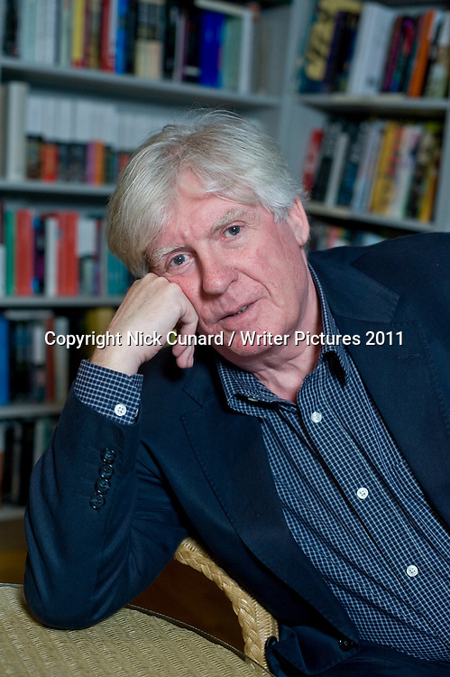 David Harsent , one of the UK's most acclaimed poets published by Faber . The author of ten collections of poetry and an accomplished opera librettist, collaborating most notably with Sir Harrison Birtwistle. His tenth poetry collection, Night, which will be published in January by Faber, contains two long sequences, the first set in a garden where dreams and nightmares collide and coalesce, and the second a noirish quest poem with Orphic resonances. <br /> Pictured at the London Review of Books Bookshop London 10/02/2011<br /> <br /> Picture Copyright Nick Cunard / Writer Pictures<br /> contact: +44 (0)20 8241 0039<br /> sales@writerpictures.com<br /> www.writerpictures.com