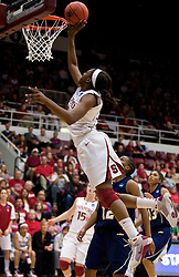 March 20, 2010; Stanford, CA, USA; Stanford Cardinal forward Nnemkadi Ogwumike (30) shoots against the Stanford Cardinal during the second half in the first round of the 2010 NCAA womens basketball tournament at Maples Pavilion.  Stanford defeated UC Riverside 79-47.