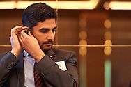 Warsaw, Poland - 2018 November 08: Mohammed Al Zarooni Director General for Information & e-goverment, The Telecommunications Regulatory Authority (UAE) attends Polish - Emirati Business Forum on Raffles Europejski Hotel on November 08, 2018 in Warsaw, Poland.<br /> <br /> Adam Nurkiewicz declares that he has no rights to the image of people at the photographs of his authorship.<br /> <br /> Picture also available in RAW (NEF) or TIFF format on special request.<br /> <br /> Any editorial, commercial or promotional use requires written permission from the author of image.<br /> <br /> Image can be used in the press when the method of use and the signature does not hurt people on the picture.<br /> <br /> Mandatory credit:<br /> Photo by © Adam Nurkiewicz