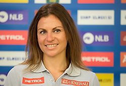 Vanja Brodnik during official presentation of the outfits of the Slovenian Ski Teams before new season 2015/16, on October 6, 2015 in Kulinarika Jezersek, Sora, Slovenia. Photo by Vid Ponikvar / Sportida