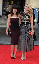 (L-R) Claudia Winkleman with Tess Daly arrives for the BAFTA TV Awards at the Theatre Royal, London, United Kingdom. Sunday, 18th May 2014. Picture by Andrew Parsons / i-Images