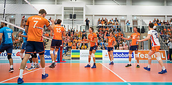 08-09-2018 NED: Netherlands - Argentina, Ede<br /> Second match of Gelderland Cup / Gijs Jorna #7 of Netherlands, Thomas Koelewijn #15 of Netherlands, Wessel Keemink #2 of Netherlands, Wouter ter Maat #16 of Netherlands, Jeroen Rauwerdink #10 of Netherlands, Just Dronkers #19 of Netherlands