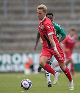 Lucas Lodberg (FC Helsingør) under kampen i Sydbank Pokalen, 1. runde,  mellem AB og FC Helsingør den 6. august 2019 på Gladsaxe Stadion (Foto: Claus Birch).