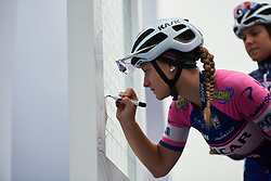Chiara Consonni (ITA) signs on at GREE Tour of Guangxi Women's World Tour 2018, a 145.8 km road race in Guilin, China on October 21, 2018. Photo by Sean Robinson/velofocus.com