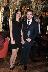 JAMES & JENNY SIMPSON at the 50th birthday party for Patrick Cox held at the Café Royal Hotel, 68 Regent Street, London on 15th March 2013.