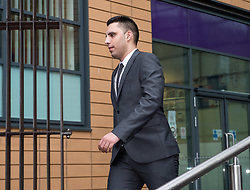 © Licensed to London News Pictures. 13/02/2018. Bristol, UK.  RYAN ALI leaves Bristol magistrates' court today after pleading not guilty to charges of affray that relate to a fight outside a Bristol nightclub on September 25 2017. Ryan Hale and England cricketer Ben Stokes also pleaded not guilty to charges of affray. Stokes is hoping to be permitted to fly out to join England's tour to New Zealand.  Photo credit: Simon Chapman/LNP