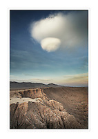 UFO cloud over Borrego Badlands from Fonts Point, Anza-Borrego Desert State Park California