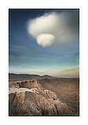 UFO cloud over Borrego Badlands from Fonts Point, Anza-Borrego Desert State Park California