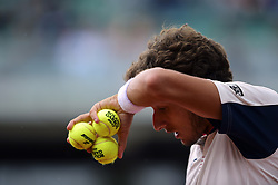 June 7, 2017 - Roland Garros Porte D Auteuil, France - 11e  journee :   Pablo Carreno Busta (Credit Image: © Panoramic via ZUMA Press)