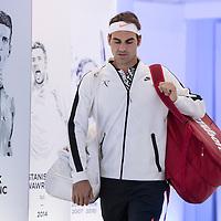 Roger Federer of Switzerland on day nine of the 2017 Australian Open at Melbourne Park on January 24, 2017 in Melbourne, Australia.<br /> (Ben Solomon/Tennis Australia)