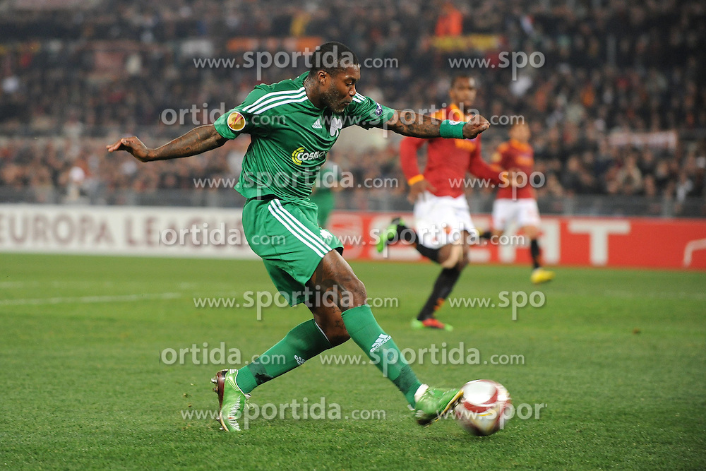 25.02.2010, Stadio Olimpico, Rom, ITA, UEFA EL, AS Rom vs Panathinaikos Athen, im Bild Tor durch Djibril CISSE, EXPA Pictures © 2010, PhotoCredit: EXPA/ InsideFoto/ Andrea Stacciolio / SPORTIDA PHOTO AGENCY