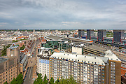 Vue sur le quartier Euralille et le toit de la gare de Lille Flandres // View of Euralille district and Lille Flandres railway station