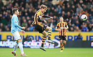 Nikica Jelavic of Hull City in action during the Barclays Premier League match at the KC Stadium, Kingston upon Hull<br /> Picture by Richard Gould/Focus Images Ltd +44 7855 403186<br /> 15/03/2014