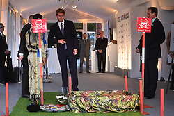 April 4, 2017 - London, London, United Kingdom - Image ©Licensed to i-Images Picture Agency. 04/04/2017. London, United Kingdom. Prince Harry attends the Landmine Free World.The world's two leading landmine charities, Mines Advisory Group (MAG) and The HALO Trust,  hold a reception on International Mine Awareness Day, at the The Orangery, Kensington Palace,  in order to galvanise support for their goal of a world free of landmines by 2025. Prince Harry will  make a keynote speech at the event along with The International Development Secretary, Priti Patel. Picture by Andrew Parsons / i-Images (Credit Image: © Andrew Parsons/i-Images via ZUMA Press)