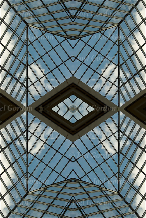 Abstract mirror image of skylight